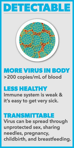 u=u, detectable, viral loads, hiv
